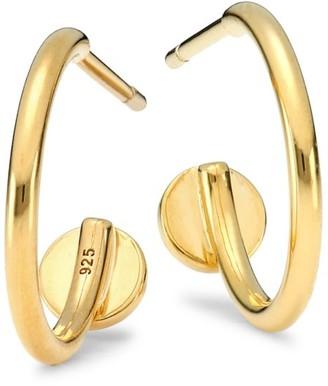 Judith Leiber 14K Goldplated Sterling Silver Hoop Earrings