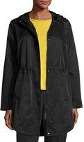 Eileen Fisher Cotton/Nylon Hooded Jacket, Black