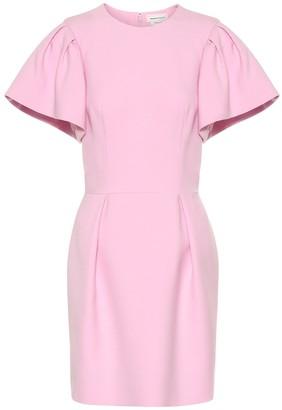 Alexander McQueen Wool and silk-blend minidress