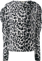 Saint Laurent leopard print top - women - Silk - 40