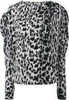 Saint Laurent leopard print top