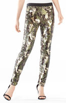 BCBGMAXAZRIA Dena Camo Sequined Leggings