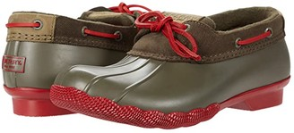 Sperry Saltwater 1-Eye Corduroy (Green/Red) Women's Shoes