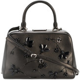 Simone Rocha Leather Tote with Beaded Floral Embellishment - women - Leather - One Size