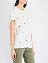 The Great Heart-print cotton T-shirt