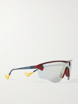 District Vision + Mr Porter Health In Mind Junya Racer Rectangle-Frame Nylon Sunglasses