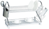 Frigidaire Chrome Two-Tier Dish Rack