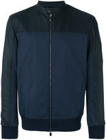 Drome zip up bomber jacket - men - Cotton/Leather/Polyamide/Spandex/Elastane - L