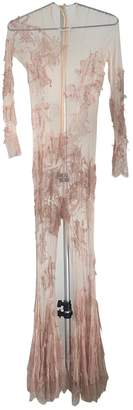 Meadham Kirchhoff Beige Silk Jumpsuits