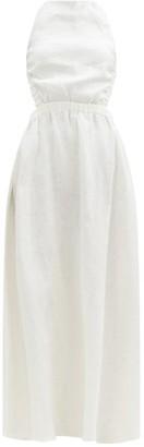 Sir. Alena Crossover-back Linen Maxi Dress - Ivory