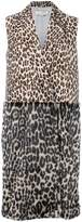 Stella McCartney sleeveless leopard print coat