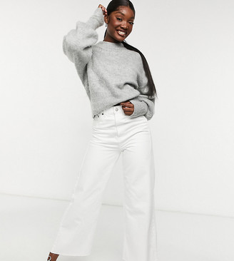 Dr. Denim Tall Aiko wide leg cropped jeans in white