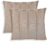 "Essentials Tan Oracle Faux Fur Throw Pillow 2 Pack (20""x20"")"