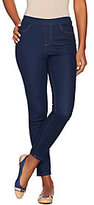 As Is Denim & Co. Petite Pull-on Slim Leg Ankle Jeans