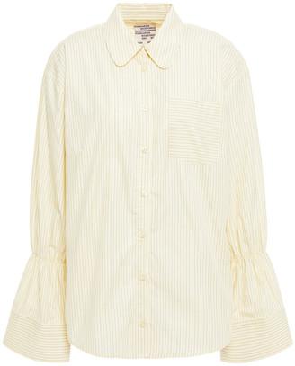 Baum und Pferdgarten Marillo Gathered Striped Cotton-poplin Shirt