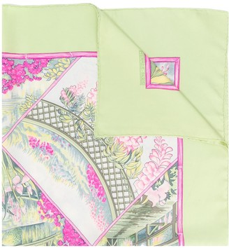Hermes 2000s pre-owned Giverny floral scarf