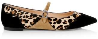 Coach X Tabitha Simmons Harriette Leopard-Print Calf Hair & Suede Mary Jane Flats
