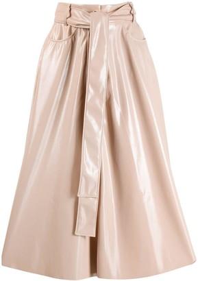 MSGM high waisted patent skirt