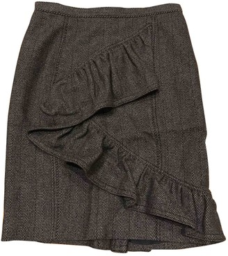 Burberry Anthracite Tweed Skirt for Women