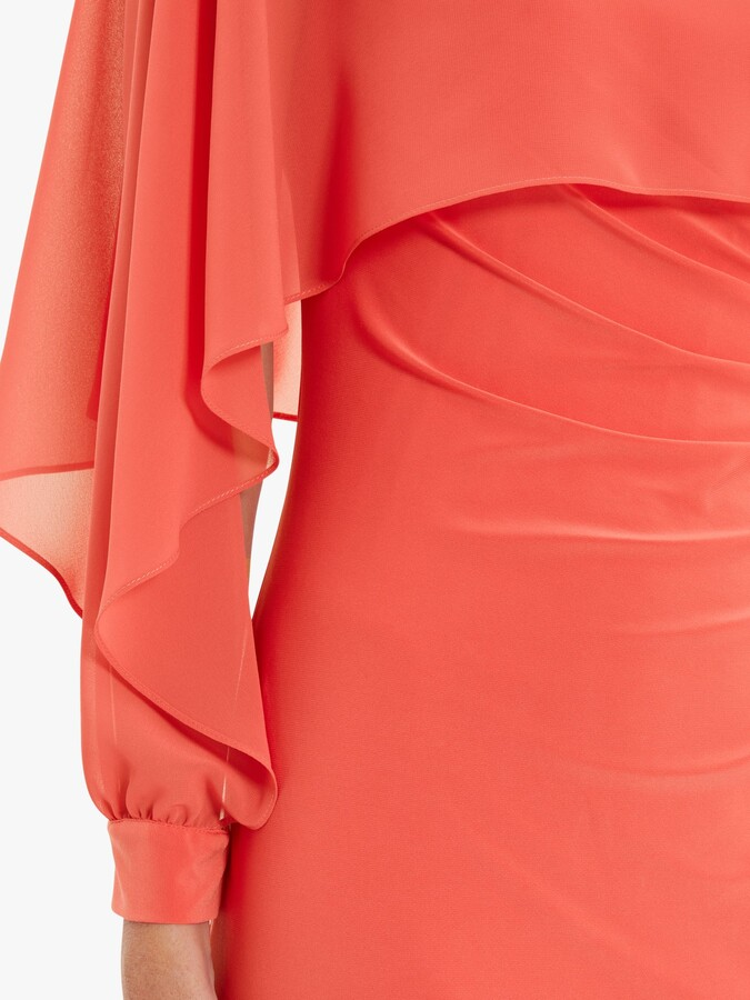 Thumbnail for your product : Gina Bacconi Ionela Jersey Maxi Cape Dress