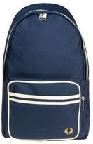Fred Perry New Mens Blue Twin Tipped Polyester Backpack Backpacks
