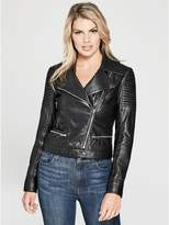 GUESS by Marciano Women's Aylin Leather Moto Jacket