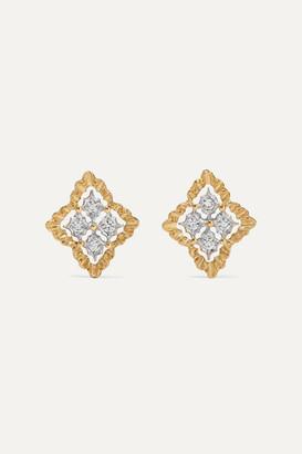 Buccellati Rombi 18-karat White And Yellow Gold Diamond Earrings - one size