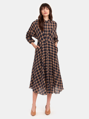 The Great The Western Shirt Midi Dress