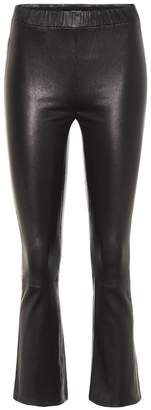 J Brand Mid-rise cropped leather pants