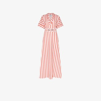 Evi Grintela Striped Side Split Cotton Dress