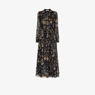 Chloé Floral Print Silk Dress