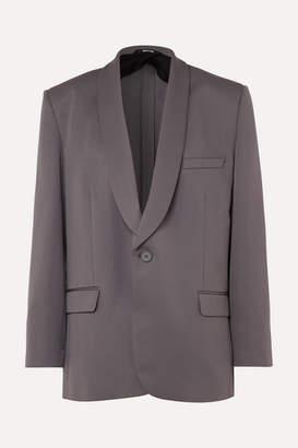 Maison Margiela Oversized Cady Blazer - Gray