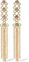 Ben-Amun Gold-tone crystal earrings