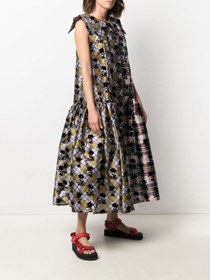 Thumbnail for your product : Chopova Lowena Floral Flared Long Dress