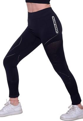 Arnold Gym Women Core+ Seamless High Waisted Sports Tight Yoga Black Active Leggings (XL 16)