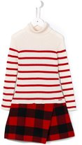 Junior Gaultier striped and plaid dress