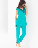 Soma Intimates Tunic Pajama Set Viridian Green
