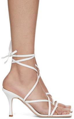 A.W.A.K.E. Mode White Ophelia Heeled Sandals