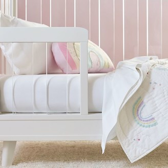 west elm Organic Cotton Crib Fitted Sheet - Stone White