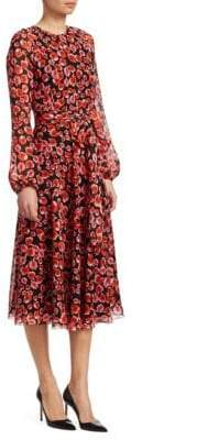 Giambattista Valli Abstract Floral Print Dress