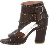 Laurence Dacade Suede Spiked Sandals