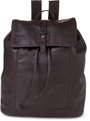 Cole Haan Top Flap Pebbled Leather Backpack