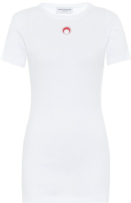 Marine Serre Logo cotton-jersey T-shirt