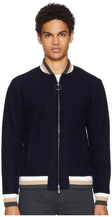 Eleventy Stripe Detail Bomber Jacket Men's Coat