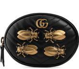 Gucci GG Marmont animal studs wrist pouch
