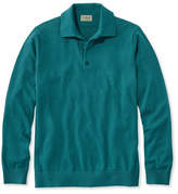 L.L. Bean Cotton/Cashmere Sweater, Polo Long-Sleeve