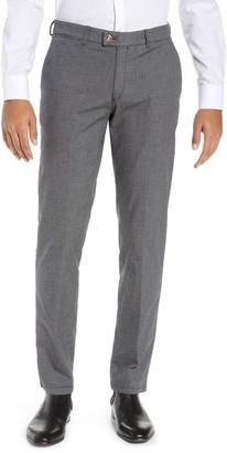 Brax Slim Fit Sharkskin Flat Front Pants