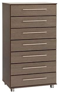 Ideal Furniture New York 7 Drawer Chest of Drawers, Wood, Wenge