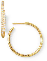 Roberto Coin 30mm Yellow Gold Diamond Hoop Earrings, 0.98ct