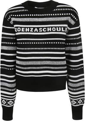 Proenza Schouler Long Sleeve Cropped Sweater